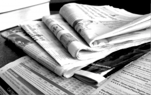 Newspapers B&W (3) / Jon S / Creative Commons Flickr Images